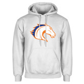 White Fleece Hoodie-Horse Head