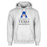 White Fleece Hoodie-University of Texas Arlington Stacked