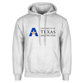 White Fleece Hoodie-University of Texas Arlington