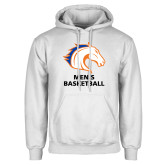 White Fleece Hoodie-Mens Basketball
