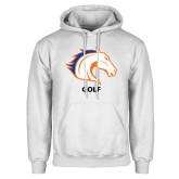 White Fleece Hoodie-Golf