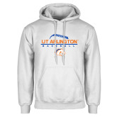 White Fleece Hoodie-Baseball Seams on Top