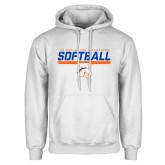 White Fleece Hoodie-Softball Shelf