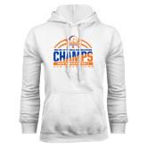 White Fleece Hoodie-2016-17 Regular Season Champs - Mens Basketball Half Ball