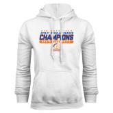 White Fleece Hoodie-2016-17 Regular Season Champions - Mens Basketball Stencil