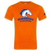 Adidas Orange Logo T Shirt-Mavericks