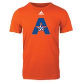 Adidas Orange Logo T Shirt-A with Star