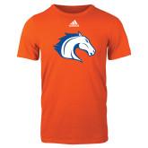 Adidas Orange Logo T Shirt-Horse Head