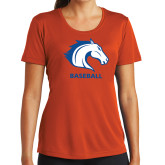 Ladies Syntrel Performance Orange Tee-Baseball