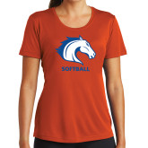 Ladies Syntrel Performance Orange Tee-Softball