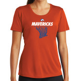 Ladies Syntrel Performance Orange Tee-Basketball Hanging Net