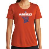 Ladies Performance Orange Tee-Basketball Hanging Net