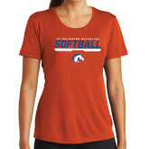 Ladies Syntrel Performance Orange Tee-Softball Shelf