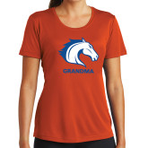 Ladies Syntrel Performance Orange Tee-Grandma