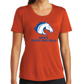 Ladies Syntrel Performance Orange Tee-Mens Track and Field