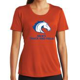 Ladies Performance Orange Tee-Mens Track and Field