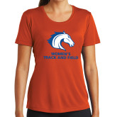 Ladies Syntrel Performance Orange Tee-Womens Track and Field