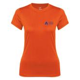 Ladies Syntrel Performance Orange Tee-Secondary Mark