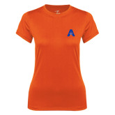 Ladies Syntrel Performance Orange Tee-A with Star