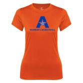 Ladies Syntrel Performance Orange Tee-Womens Basketball