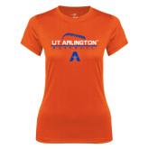 Ladies Syntrel Performance Orange Tee-Baseball Laces on Top