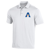 Under Armour White Performance Polo-A with Star