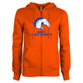 ENZA Ladies Orange Fleece Full Zip Hoodie-Mens Cross Country