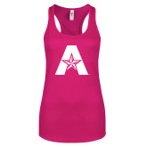Next Level Ladies Raspberry Ideal Racerback Tank-A with Star