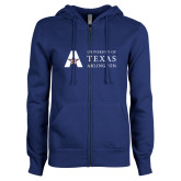 ENZA Ladies Royal Fleece Full Zip Hoodie-University of Texas Arlington