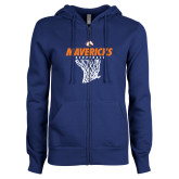 ENZA Ladies Royal Fleece Full Zip Hoodie-Basketball Hanging Net