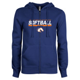 ENZA Ladies Royal Fleece Full Zip Hoodie-Softball Shelf