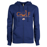 ENZA Ladies Royal Fleece Full Zip Hoodie-Golf Hole
