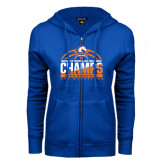 ENZA Ladies Royal Fleece Full Zip Hoodie-2016-17 Regular Season Champs - Mens Basketball Half Ball