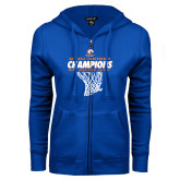 ENZA Ladies Royal Fleece Full Zip Hoodie-2017 Mens Basketball Champions Net