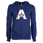 ENZA Ladies Royal Fleece Full Zip Hoodie-A with Star