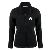 Ladies Black Softshell Jacket-A with Star