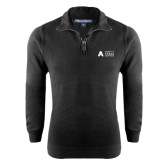 Black Rib 1/4 Zip Pullover-Secondary Mark
