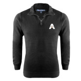 Black Rib 1/4 Zip Pullover-A with Star