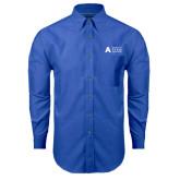 Mens Royal Oxford Long Sleeve Shirt-Secondary Mark