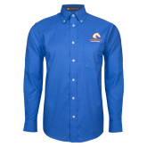 Mens Royal Oxford Long Sleeve Shirt-Primary Mark