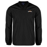 V Neck Black Raglan Windshirt-UTA Mavericks stacked