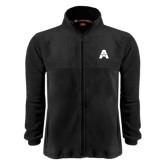Fleece Full Zip Black Jacket-A with Star