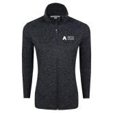 Black Heather Ladies Fleece Jacket-Secondary Mark