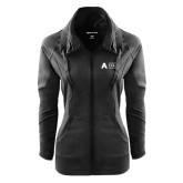Ladies Sport Wick Stretch Full Zip Black Jacket-Secondary Mark