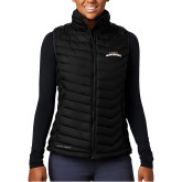 Columbia Mighty LITE Ladies Black Vest-UTA Mavericks stacked