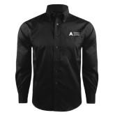 Red House Black Herringbone Non Iron Long Sleeve Shirt-Secondary Mark