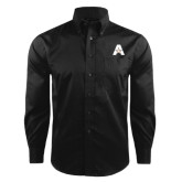 Red House Black Herringbone Non Iron Long Sleeve Shirt-A with Star