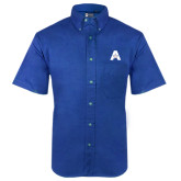 Royal Twill Button Down Short Sleeve-A with Star