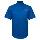 Royal Twill Button Down Short Sleeve-UTA Mavericks stacked