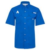 Columbia Bonehead Royal Short Sleeve Shirt-A with Star